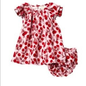 kate spade cherry ruffled sleeve dress (Toddler)